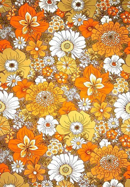 motif floral des annees 70 papier