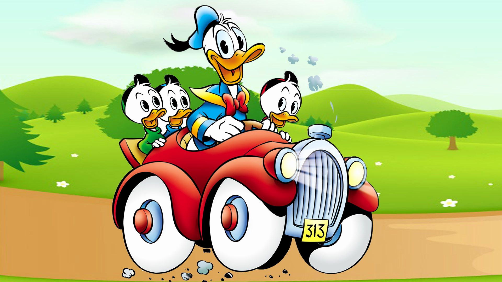 Car Cartoon Wallpaper New Donald Duck Cartoon Image Donald Duck Cartoon Images Hd 1920x1080 Download Hd Wallpaper Wallpapertip