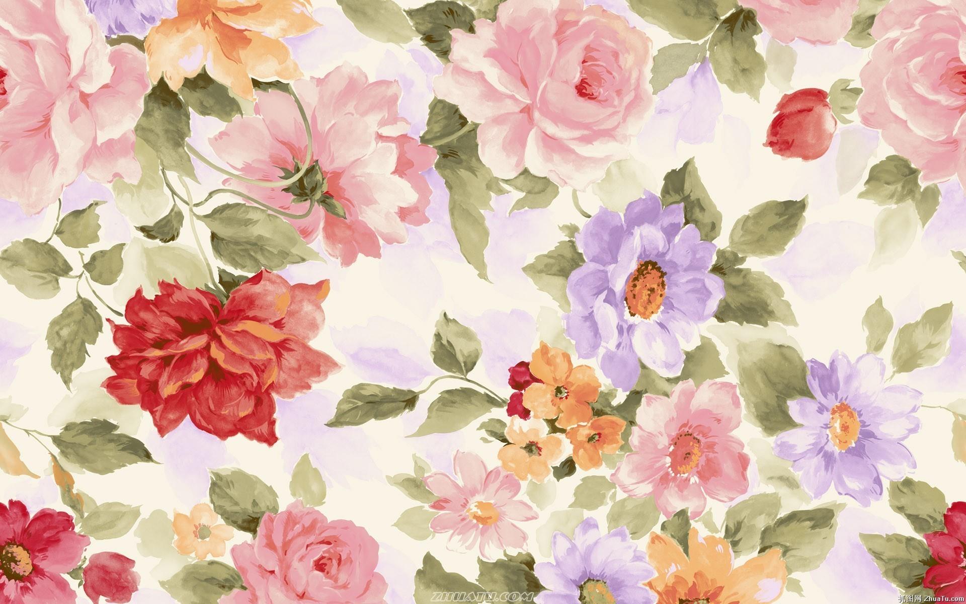 Watercolor Flower Hd Wallpaper Data Src Flower Pattern Hd Desktop 1920x1200 Download Hd Wallpaper Wallpapertip