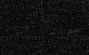 Schematic Circuits Diagram Black BW wallpaper | 1920x1200