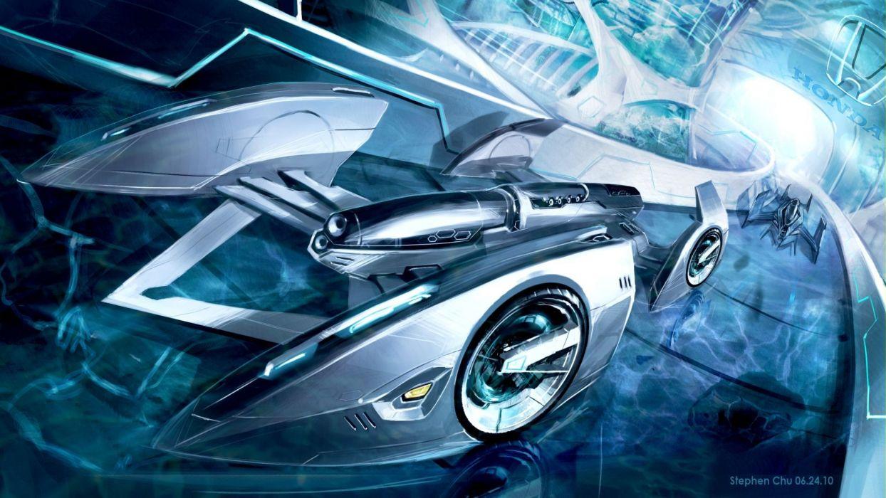Fantasy Honda Futuristic Cars Wallpaper 1920x1080