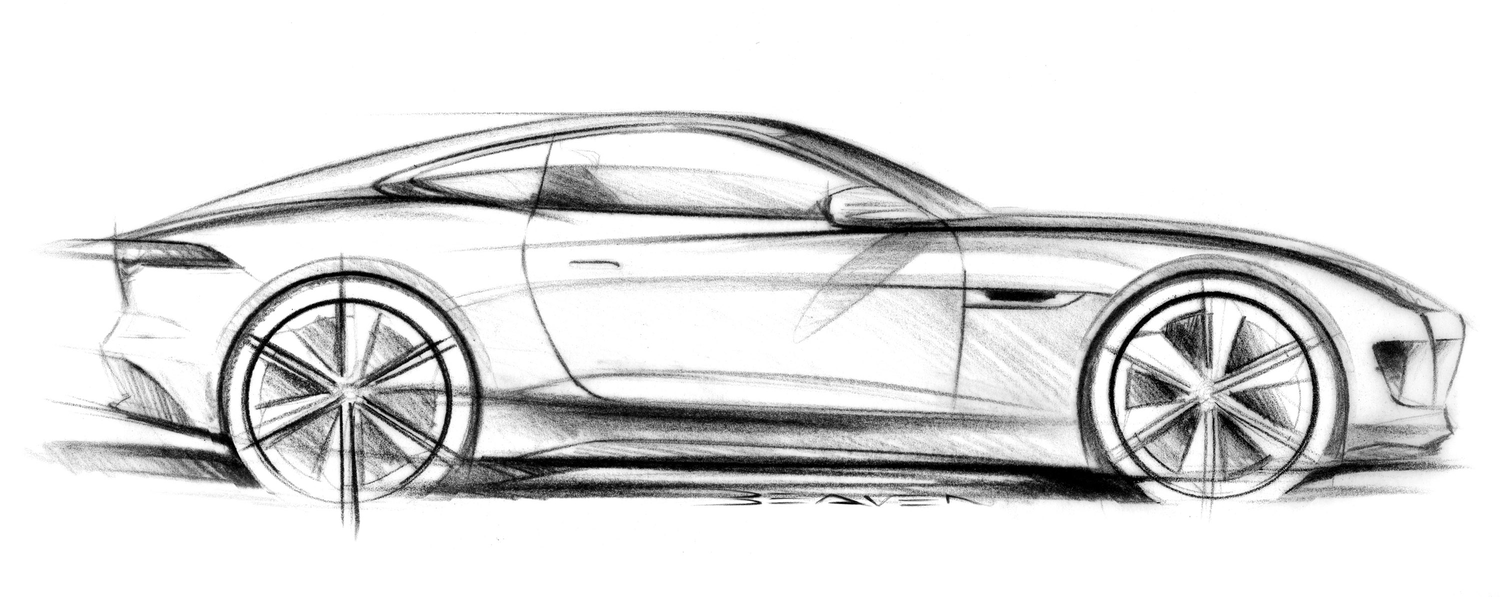 Jaguar C X16 Concept Supercar Supercars Drawing