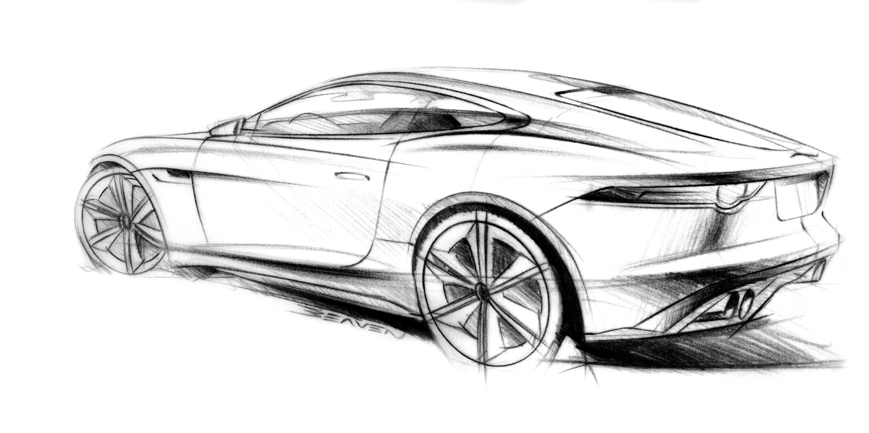Jaguar C X16 Concept Supercar Supercars Drawing