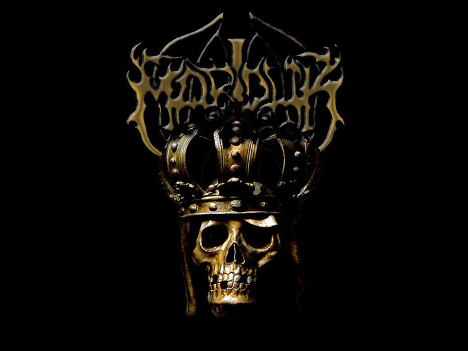 Marduk Black Metal Heavy Hard Rock Dark Skull Skulls Wallpaper