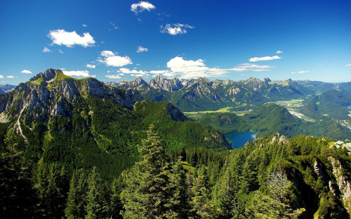 Mountains Alps Landscape Lake Forest Wallpaper 2560x1600