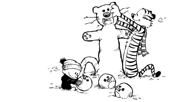 Calvin and hobbes coloring pages