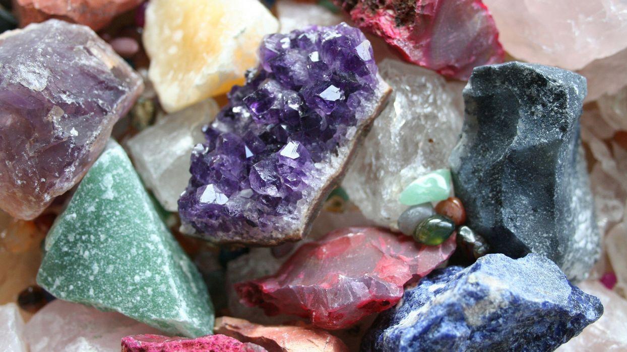 Stones Crystals Digital Art Minerals Geology Quartz Colors