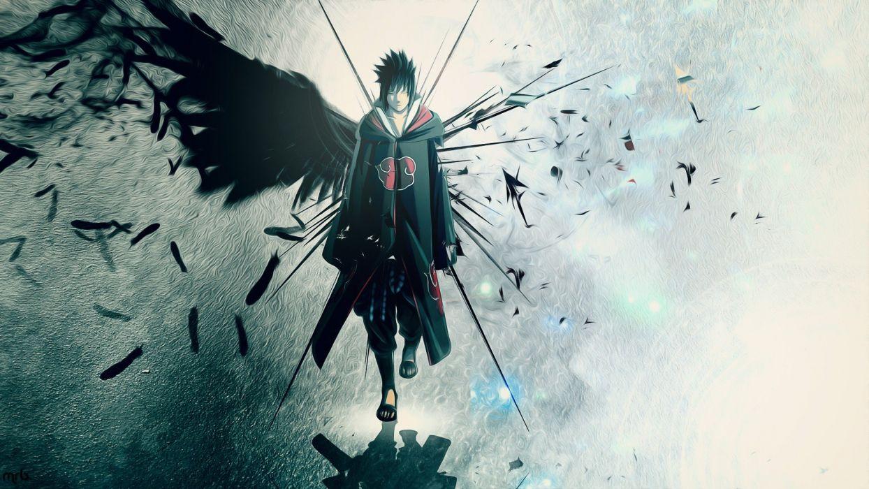 Wings Uchiha Sasuke Naruto Shippuden Akatsuki Feathers Artwork Anime Anime Boys Wallpaper 1920x1080 280467 Wallpaperup