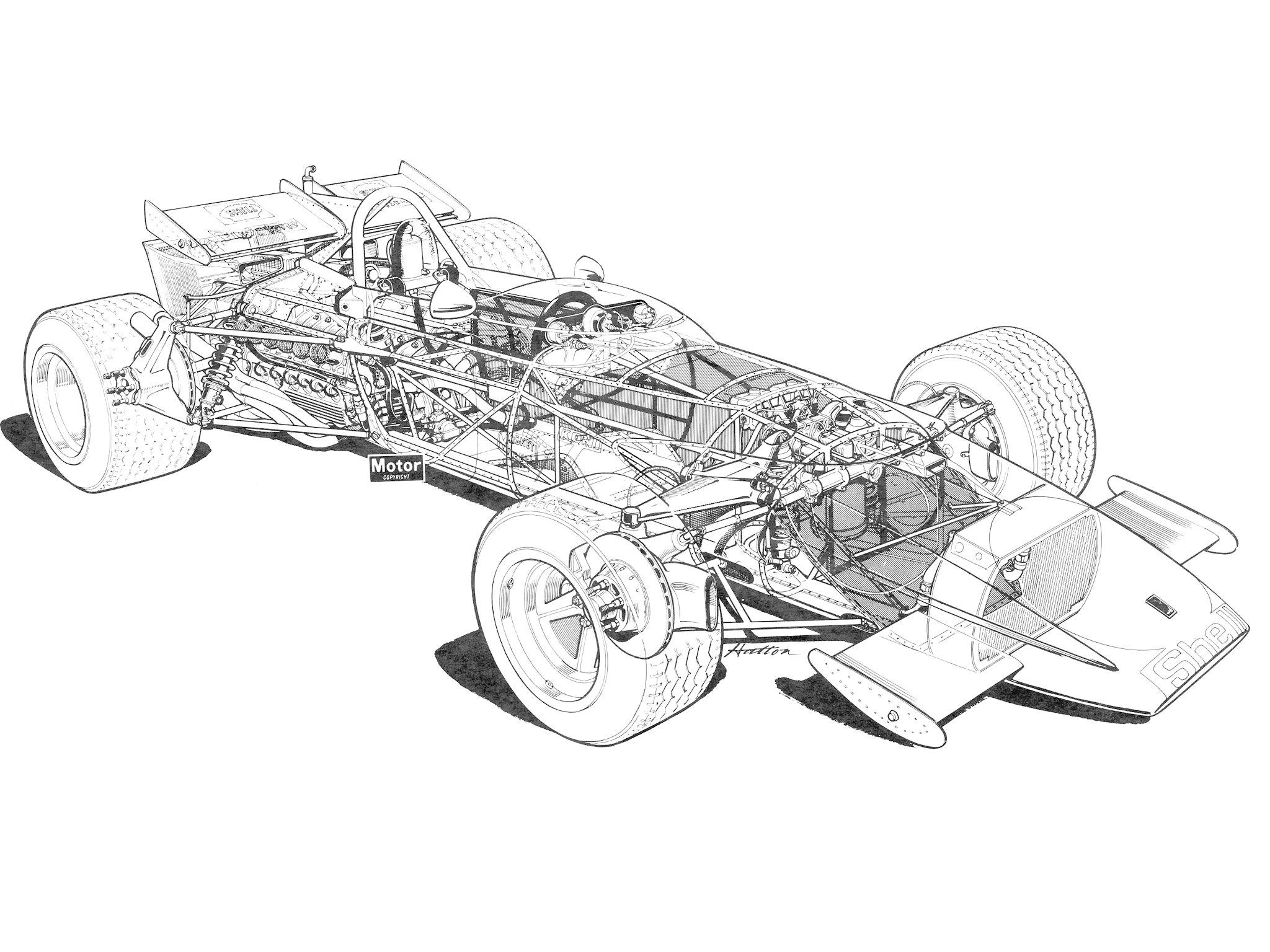 Ferrari 312b Formula F 1 Race Racing Classic Interior