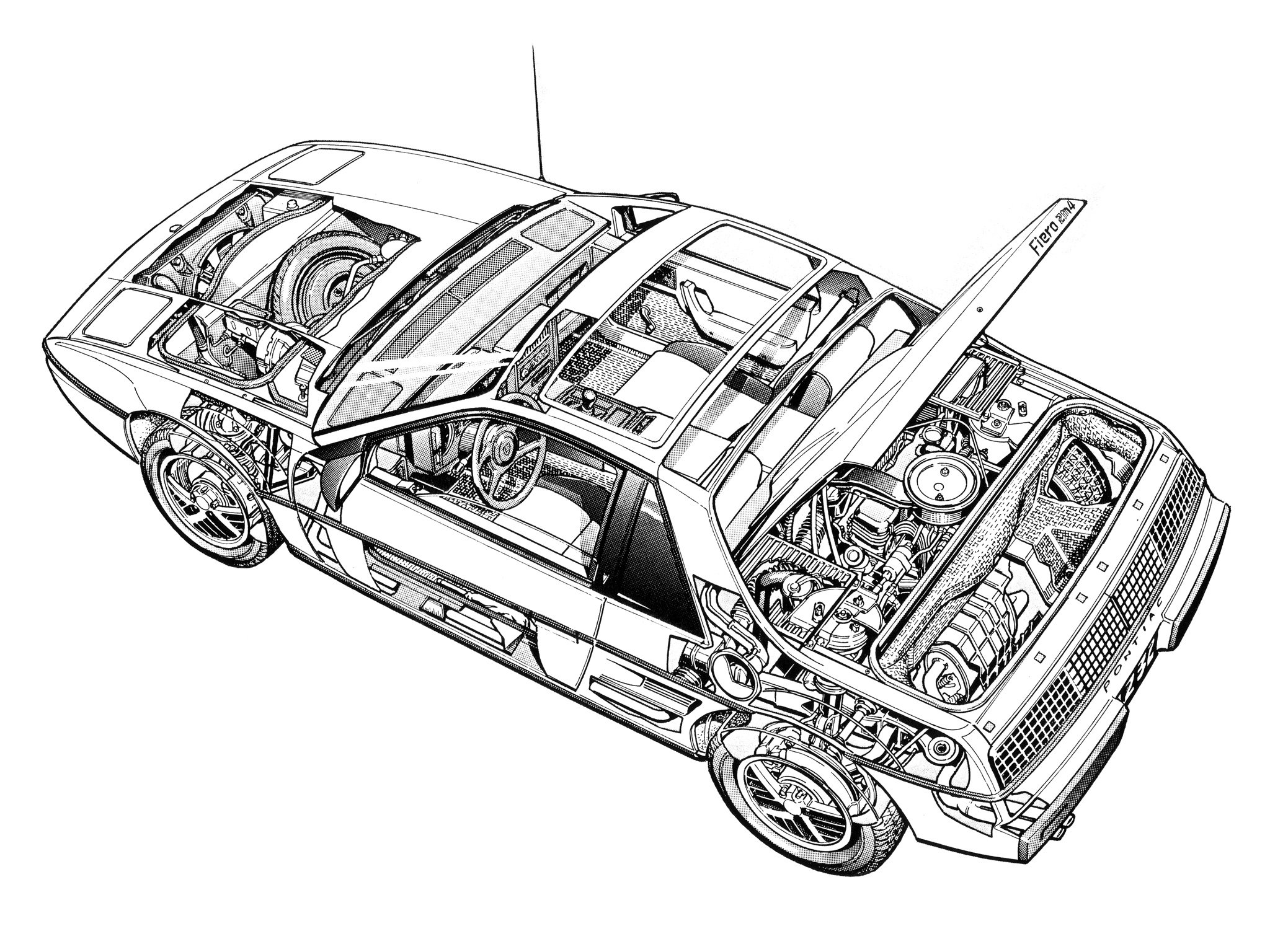 Pontiac Fiero Interior Engine G Wallpaper