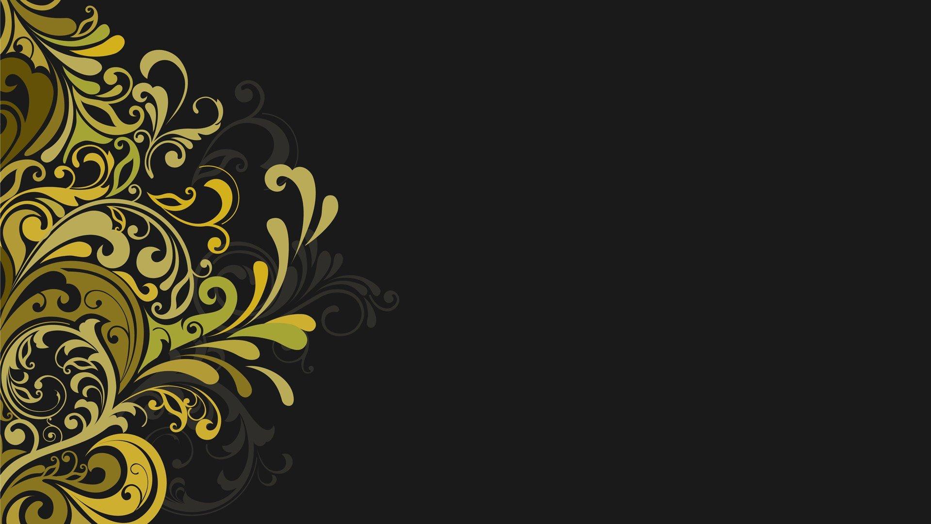 Vectors Floral Graphics Grey Background Wallpaper 1920x1080 320887 Wallpaperup