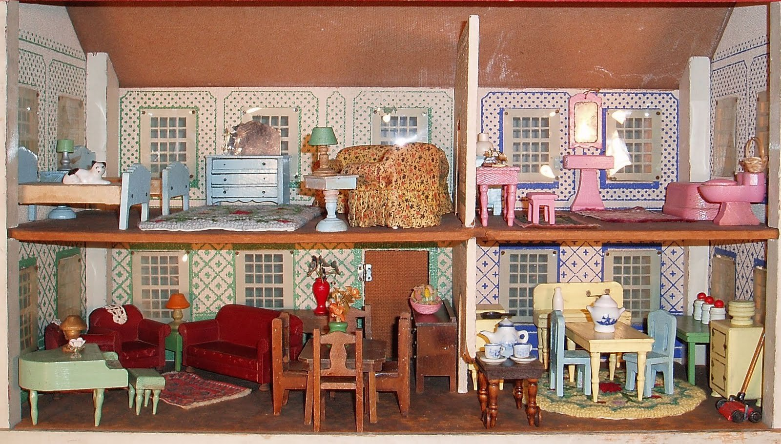 Doll House Doll House Toy Family Bokeh Houses Dolls Toys