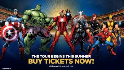 MARVEL UNIVERSE LIVE superhero comics game concert cosplay ...