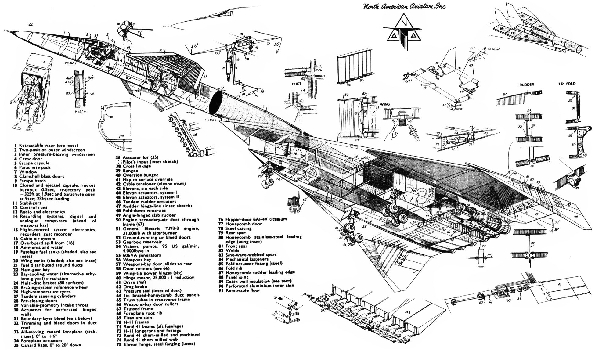 North American Xb 70 Valkyrieer Usa Jet Aircrafts