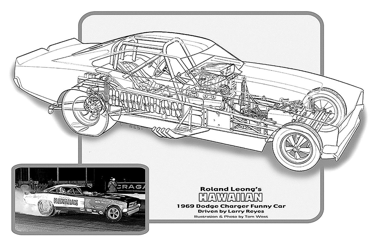 Dodge Charger Funny Car Drag Cutaway Usa 02