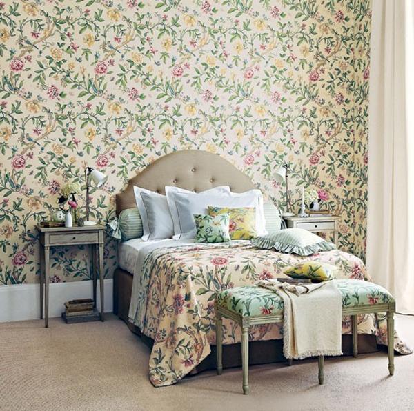 Floral Bedroom Wallpaper Furniture Bedroom Bed Wall Room 687600 Wallpaperuse