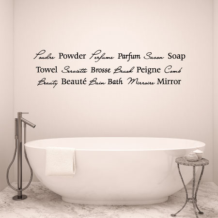 French Bath Wall Quotes Decal