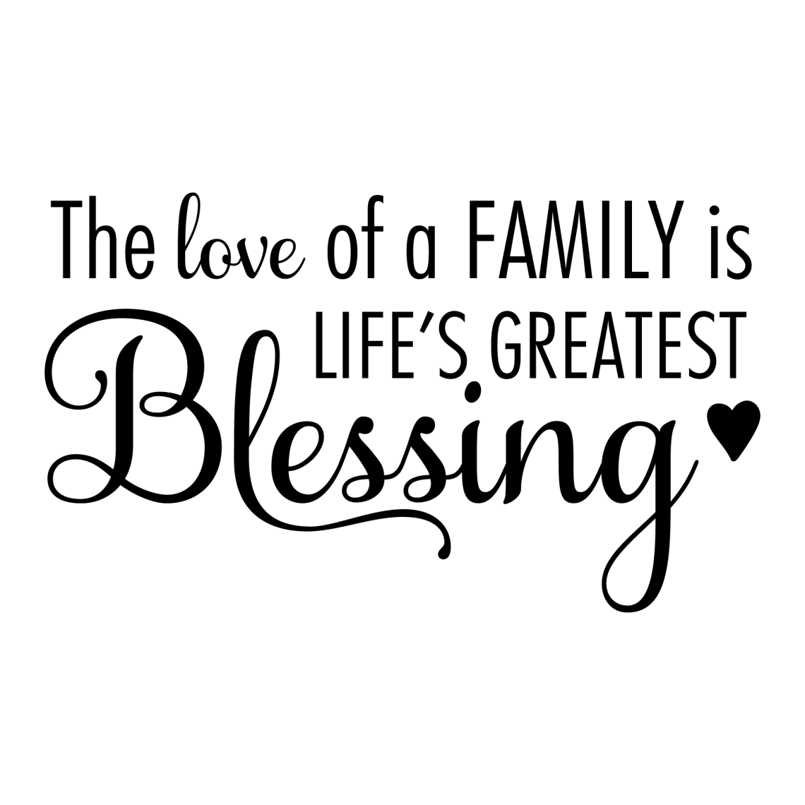 Download The Love of A Family Wall Quotes™ Decal | WallQuotes.com