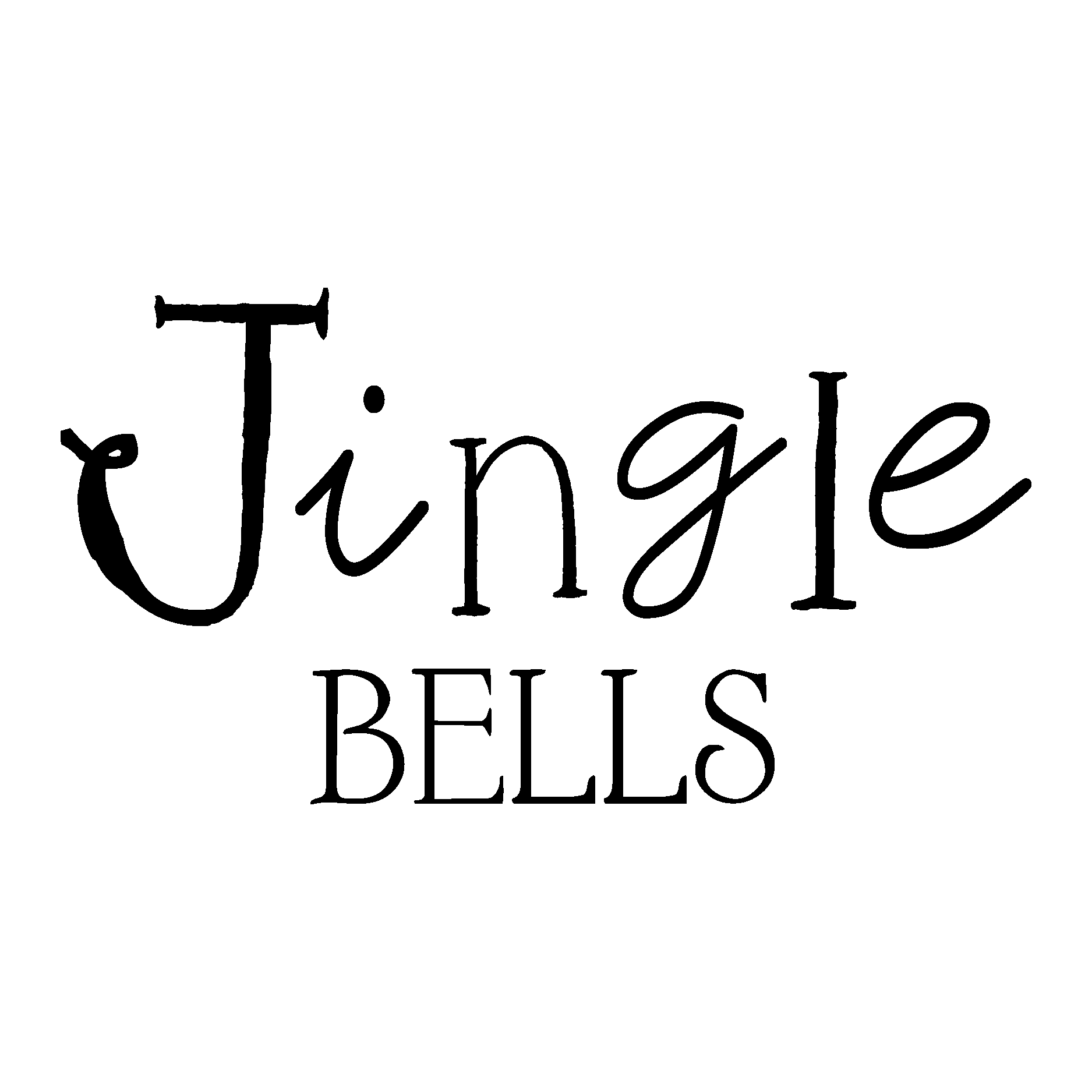 Whimsical Jingle Bells Wall Quotes Decal