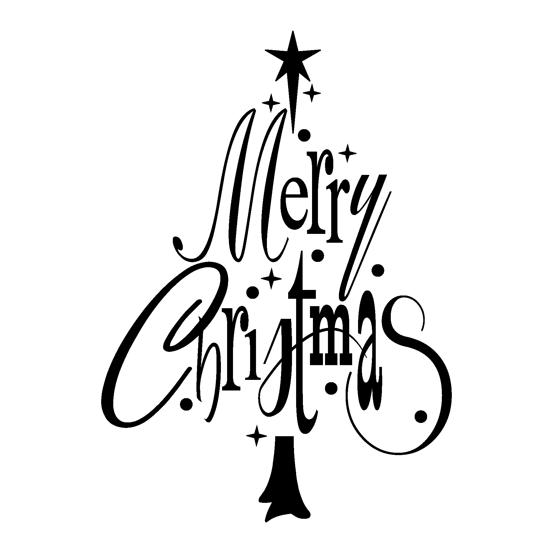 Merry Christmas Tree Wall Quotes Decal
