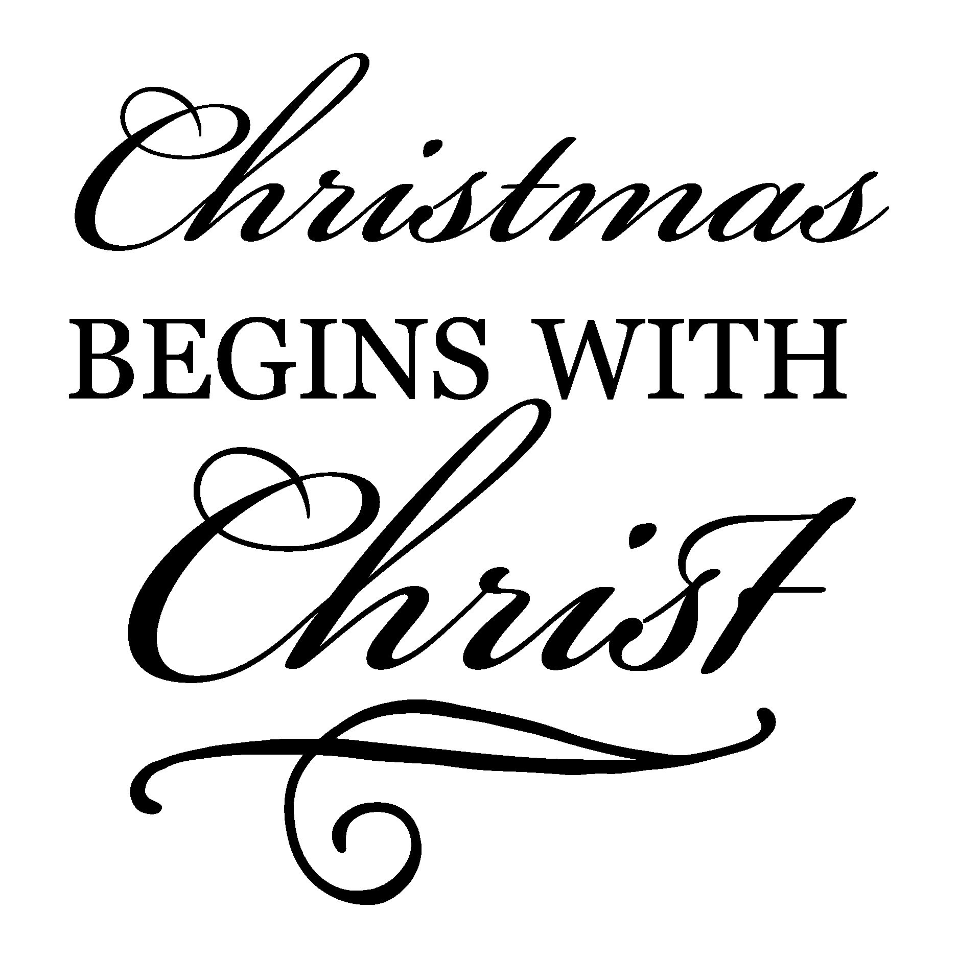 chrismtas begins with christ wall quotes decal wallquotes com