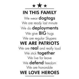 Military In This Family Wall Quotes Decal