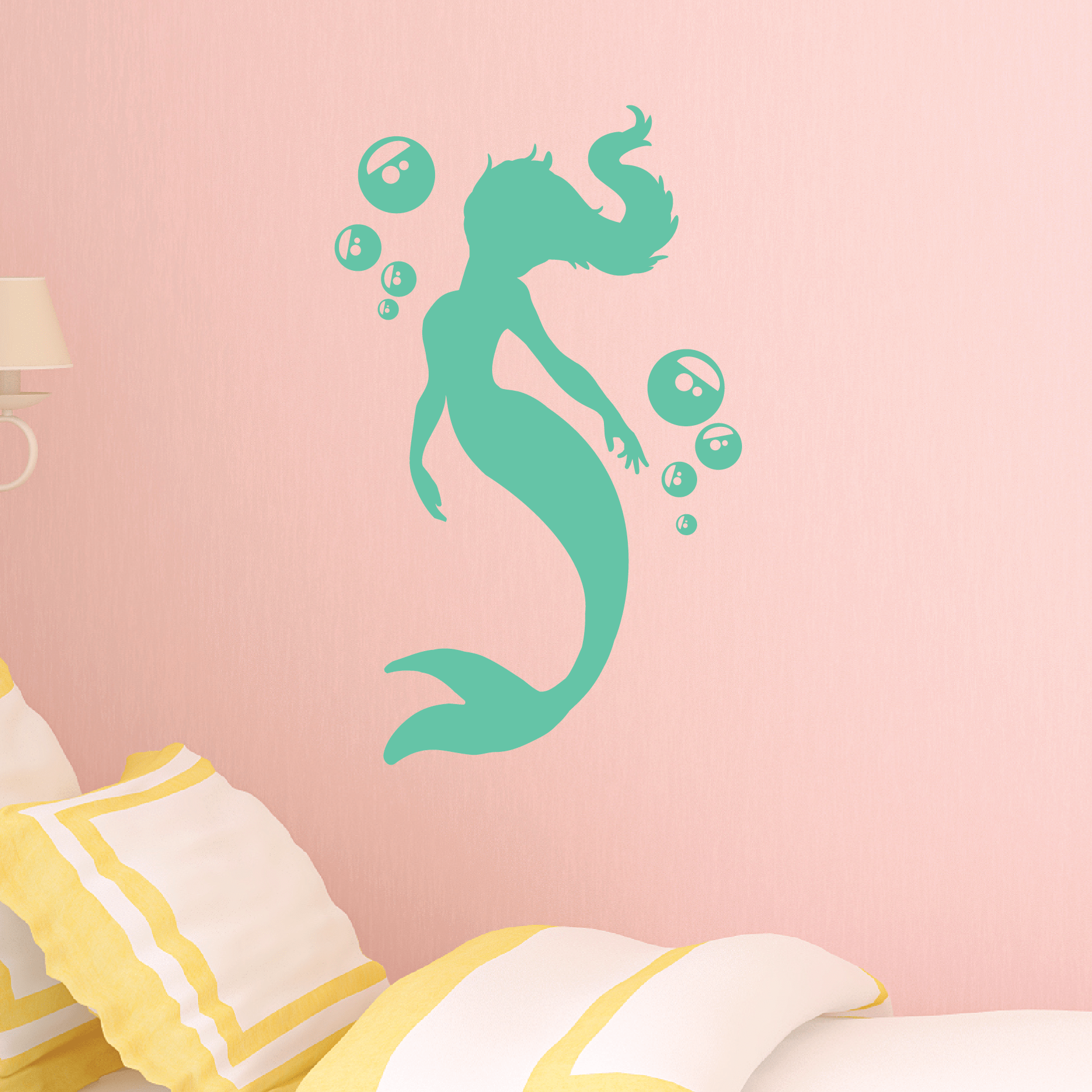 Bubbles Mermaid Wall Quotes Wall Art Decal