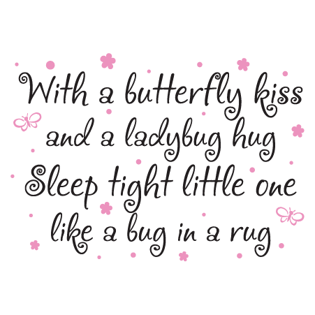 Whimsical Butterfly Kiss Wall Quotes Decal