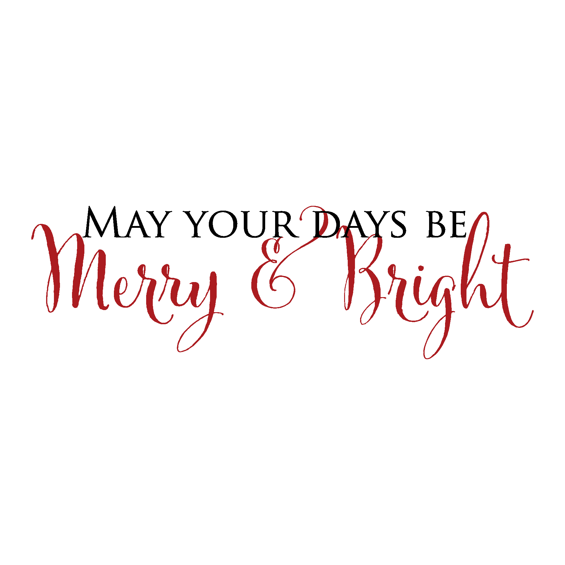 Merry Amp Bright Wall Quotes Decal