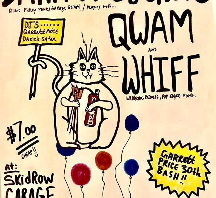 Whiff jams with Philly Gold Dark Thoughts and Qwam Saturday September 16!