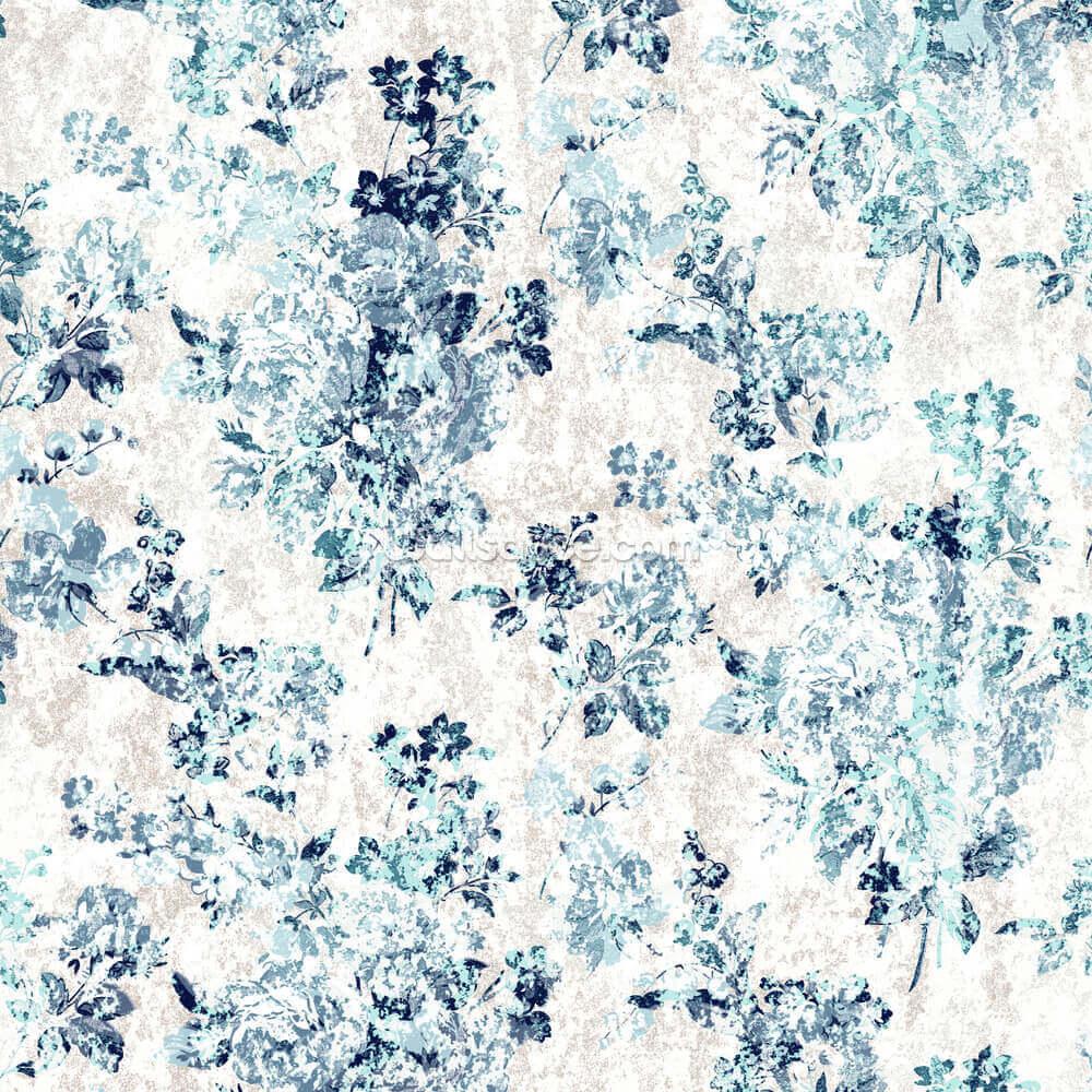 Blue Vintage Floral Wallpaper Wallsauce Uk