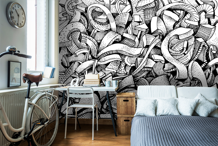 Graffiti Wallpaper For Your Teenager S Bedroom Wallsauce Us