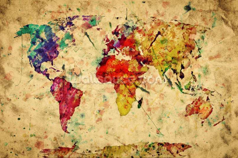 World map wallpaper nz labzada wallpaper vintage world map wallpaper for walls matatarantula gumiabroncs Gallery
