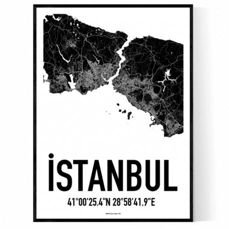 Istanbul Map Poster  Find your posters at Wallstars Online  Shop today  Istanbul Map Poster