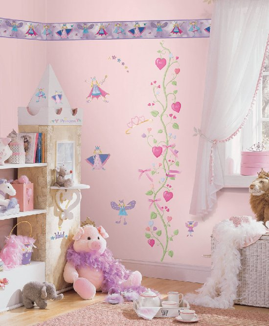 Tinker Bell Faries Princess Wall Stickers For S Room Fairy Glitter Wings Tinkerbell Decals Home Decoration Wallpaper