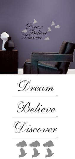 Dream Believe Discover Self-Stick Home Wall Art - Wall Sticker Outlet