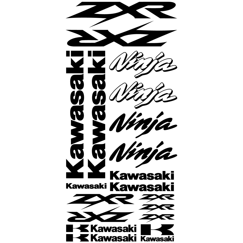 Wallstickers Folies Kawasaki Ninja Zxr Decal Stickers Kit