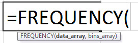 Формула частоты в Excel