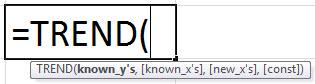 Формула ТЕНДЕНЦИИ в Excel