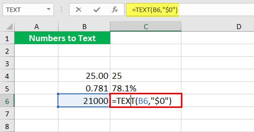 Преобразовать в число (Иллюстрация текстовой функции - 1-7)