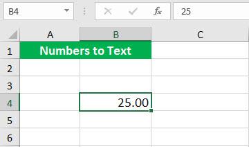 Преобразовать в число (Иллюстрация текстовой функции - 1)