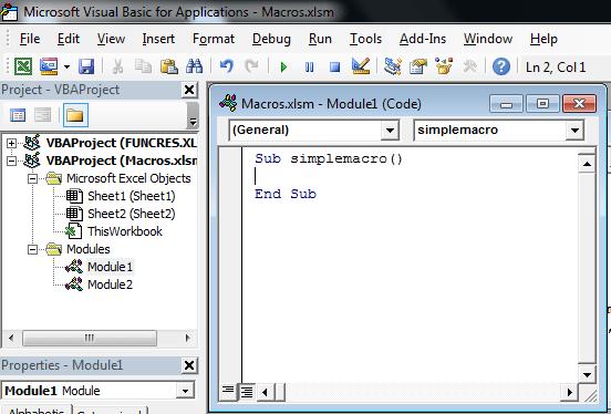Пример макроса 2-1