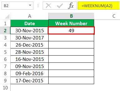 Пример номера недели 1-3