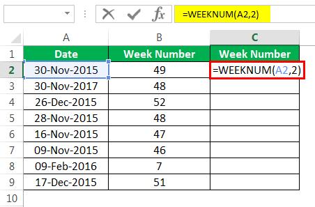 Пример номера недели 1-6
