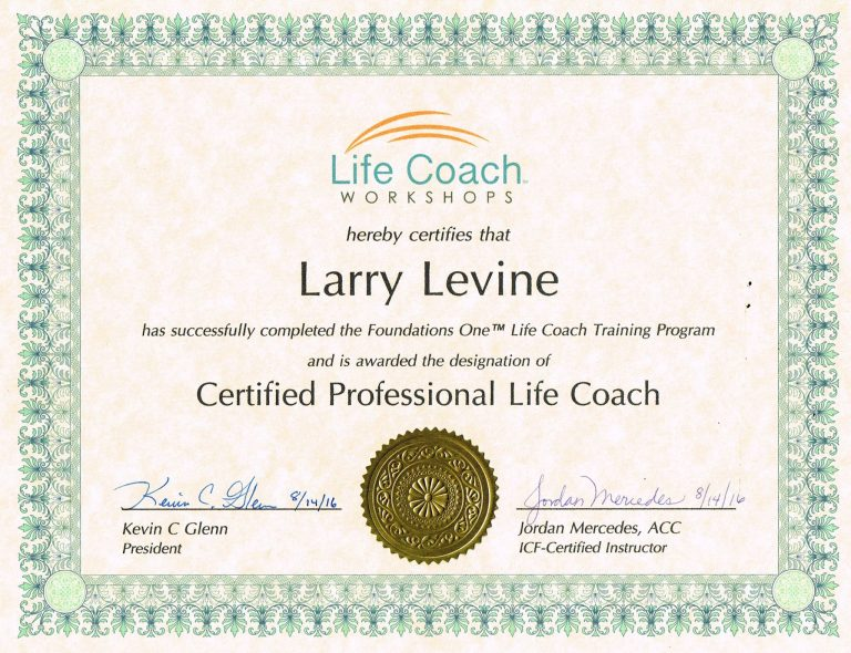 Larry Levine Professional Certifications | Wall Street ...