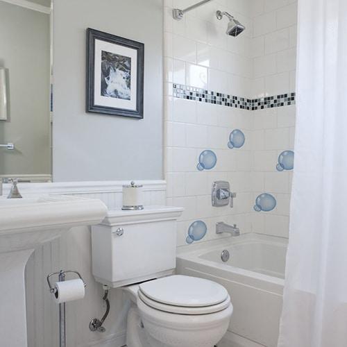 stickers bulles de savon carrelage pour salle de bain