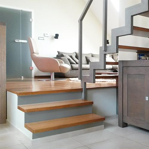 contremarche unie gris clair sticker pour escaliers