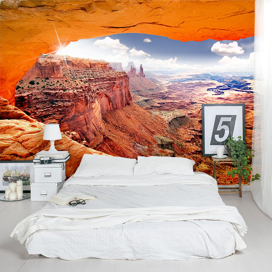 Desert Valley Landscape Wall Mural Sticker By Wallums