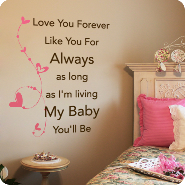 Love You Forever My Baby Youll Be Dotted Vine With Hearts
