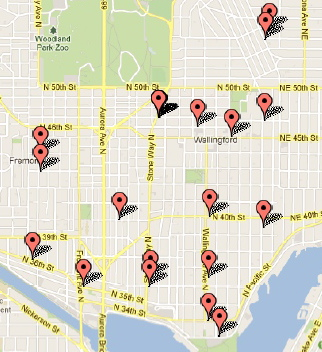 USPS Blue Mailbox Locations in Wallingford | Wallyhood Mailbox Map on